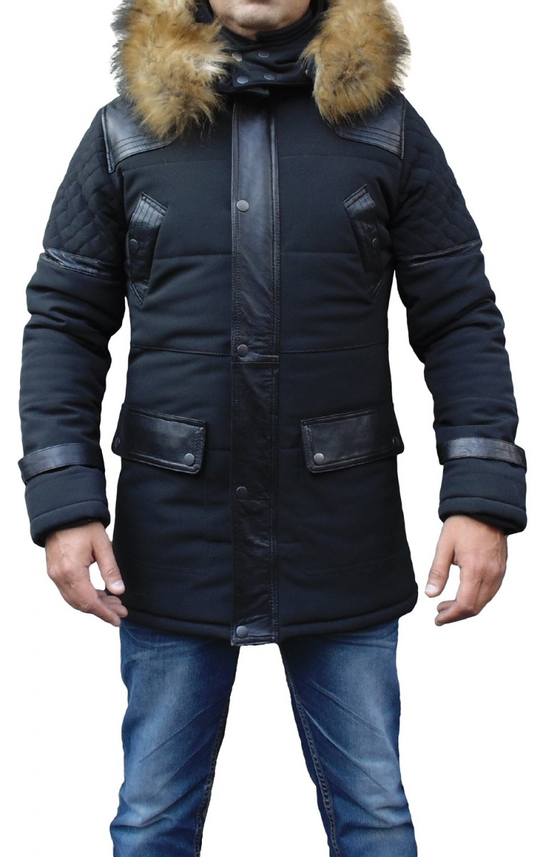 parka homme fourrure chaud doux chic un must have. Black Bedroom Furniture Sets. Home Design Ideas